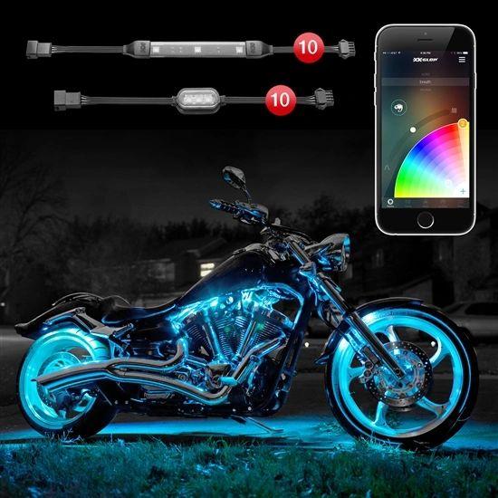 10 Pod 10 Strip XKchrome App Control Motorcycle LED Accent Light Kit