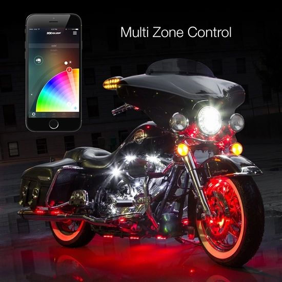 15 Pod 15 Strip XKchrome App Control Motorcycle LED Accent Light Kit