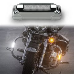 Chrome Motorcycle Highway Bar Switchback Driving Lights DRL Turnsignal