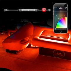 XK Glow 20pc slim strip Boat Interior Smartphone Kit