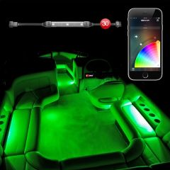 XK Glow 30pc Slim Strip Boat Marine XKchrome App Control Interior LED Accent Light Kit