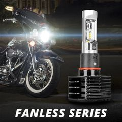 XK Glow 24 Watt Fanless LED Headlight Error-free Conversion Kit for Motorcycle
