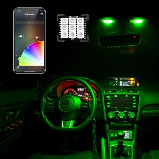ColorChanging smartphone controlled dome lights (T10/ba9s/festoon)