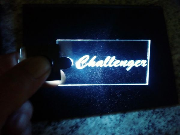 Dodge Challenger lighted keychain