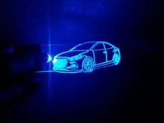 Hyundai Elantra Sport lighted keychain
