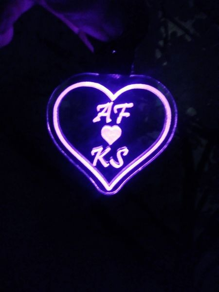 Heart Shaped lighted keychain