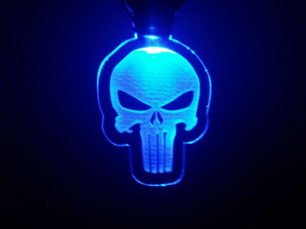 Punisher lighted keychain