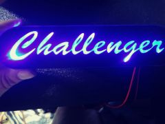 Dodge Challenger illuminated badge