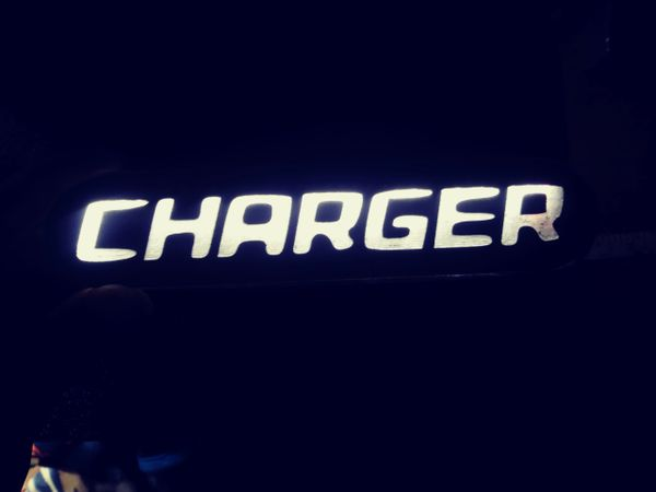 Dodge Charger illuminated badge