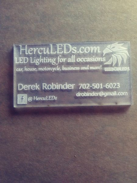 Personalized Acrylic business cards (pack of 10)