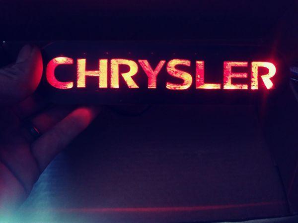 Chrysler Illuminated badge