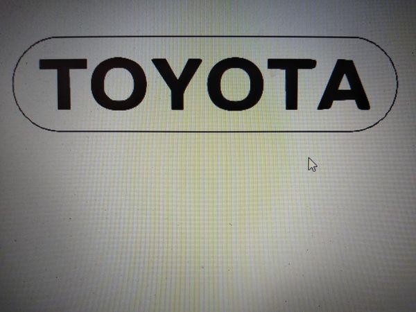 Toyota Illuminated badge