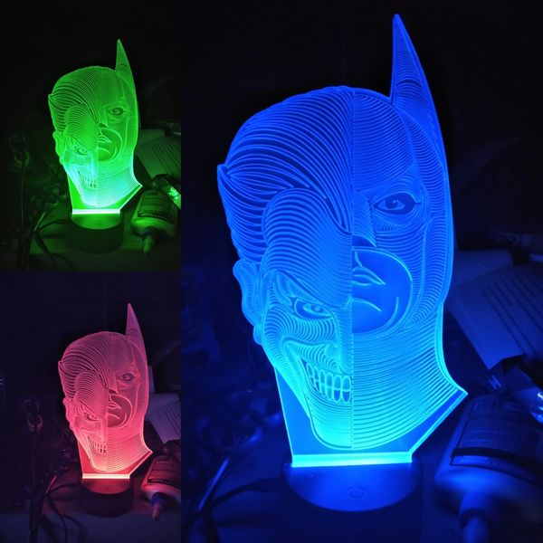 Batman/Joker 3D Illusion lamp