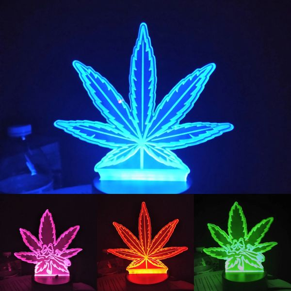 Pot leaf light up plaque