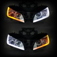 Sequential switchback DRL/Turn signal