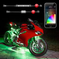 4 Pod 4 Strip XKchrome App Control Motorcycle LED Accent Light Kit