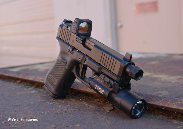 Glock 19 G5 MOS 9mm W/ Agency Arms TB & Trigger, Trijicon, Surefire