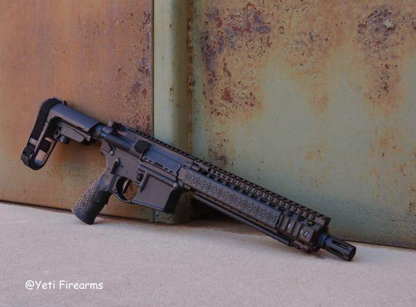 Daniel Defense MK18 Pistol FDE Rail W/ Geissele Trigger & SF Warcomp