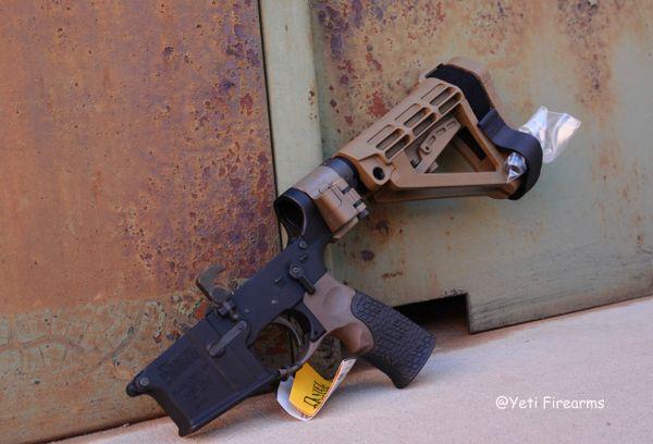 Daniel Defense DDM4 Custom Pistol Lower W/ FDE Law Folder & SBA4