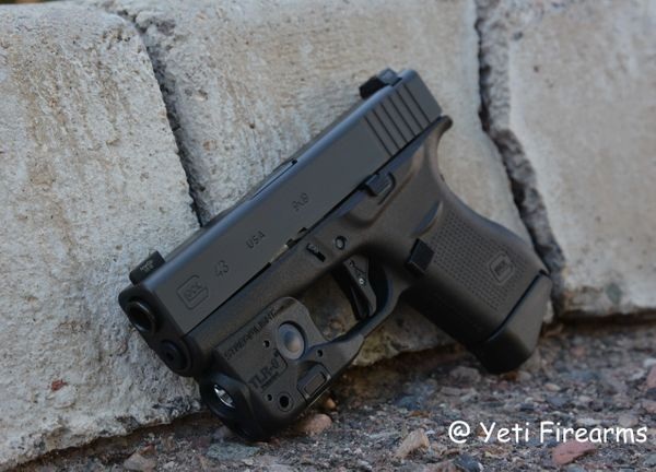 Glock 43 W/ NS Streamlight TLR-6 & Agency Arms 9mm