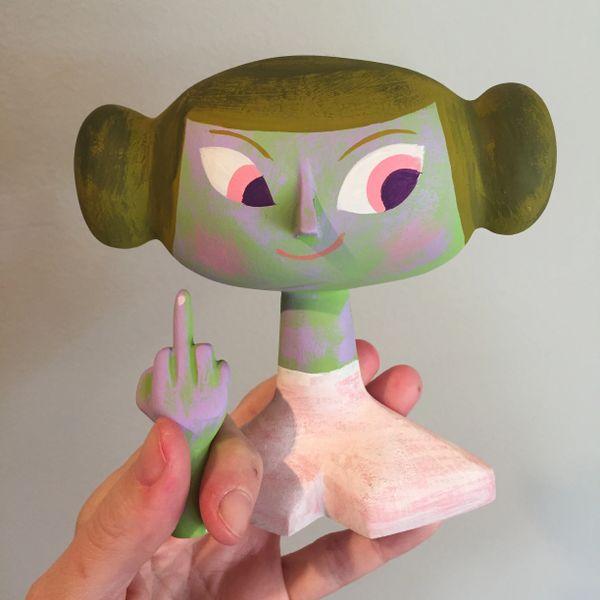 Custom Leia F*ck off bust 2