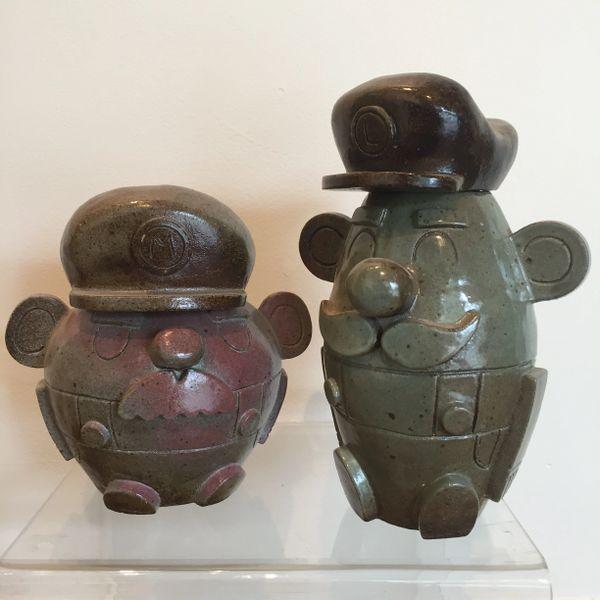 Ceramic Mario & Luigi cookie jar set