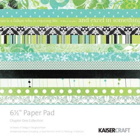 KaiserCraft 6.5 x 6.5 Paper Pad (Chapter One Collection)
