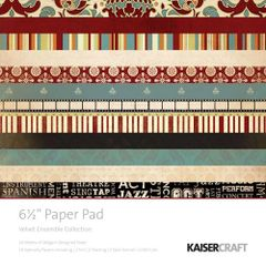 KaiserCraft 6.5 x 6.5 Paper Pad (Velvet Ensemble Collection)