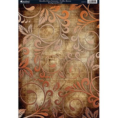 Kanban Crafts Metallic Glaze Sorrento-Coffee Brown (Vintage Collection)