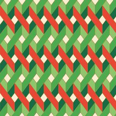 Anna Griffin Red and Green Geometric (Twinkle Bright Collection)