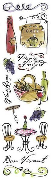 Karen Foster Bon Vivant Clearly Stickers (Bon Appetit Collection)