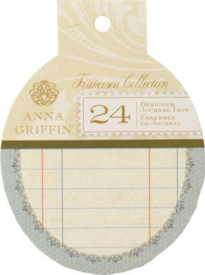 Anna Griffin Journal Tags (Francesca Collection)