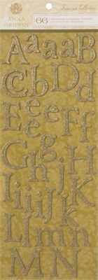 Anna Griffin Chipboard Alphabet Stickers (Francesca Collection)