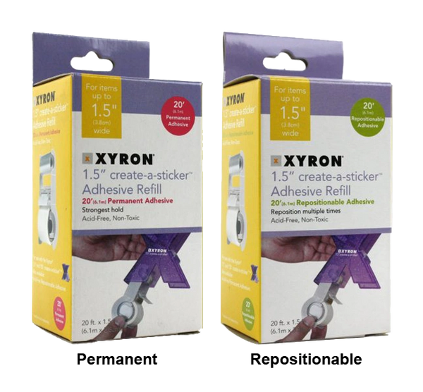 "Xyron 1.5"" or 150 Sticker Machine Refills"