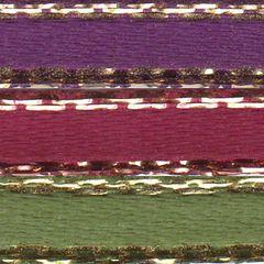 Celebrate It Ribbon 1/8 Inch 3 Colors Purple, Pink & Green Satin Ribbon