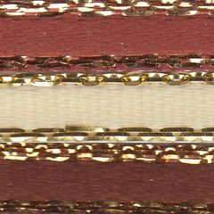 Celebrate It Ribbon 1/8 Inch 3 Colors Reddish Brown, Cream & Brown Satin Ribbon