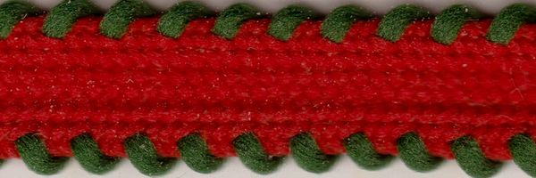 Celebrate It Ribbon 3/8 Inch Red with Green Trim Knit Ribbon