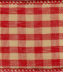 Celebrate It Ribbon 1.5 Inch Red & Cream Check Wired Edge Ribbon