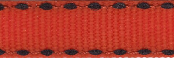 Celebrate It Ribbon 3/8 Inch Orange and Black Grosgrain Ribbon