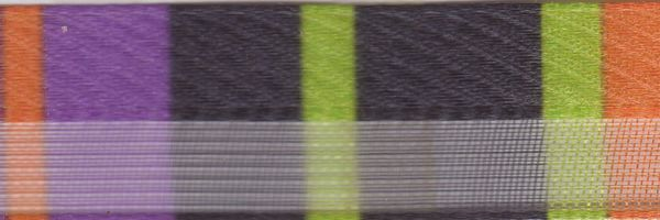 Celebrate It Ribbon 5/8 Inch Multi Stripe Sheer and Satin Ribbon