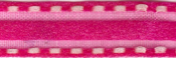 Celebrate It Ribbon 3/8 Inch Hot Pink Sheer Satin Ribbon