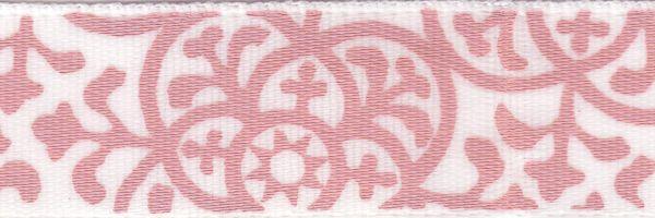 Celebrate It Ribbon 5/8 Inch Pink Damask Satin Ribbon