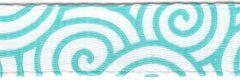 Celebrate It Ribbon 3/8 Inch Aqua Swirl Grosgrain Ribbon