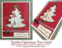 Nordic Christmas Tree Card