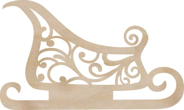 KaiserCraft Wooden Flourishes Sleigh