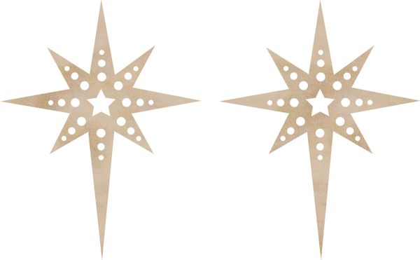 KaiserCraft Wooden Flourishes Christmas Star