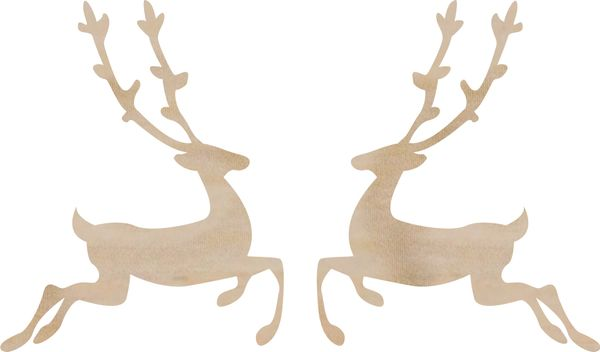 KaiserCraft Wooden Flourishes Reindeer
