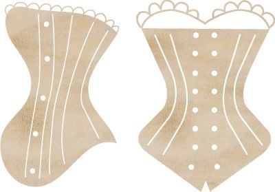 KaiserCraft Wooden Flourishes Corsets