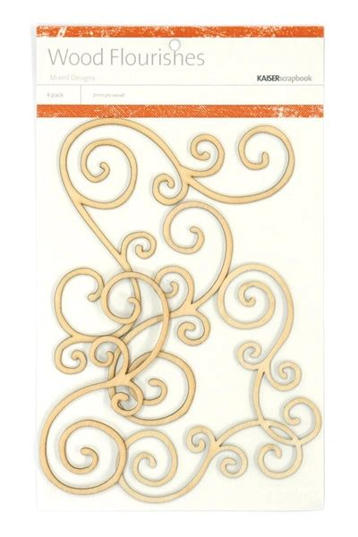 KaiserCraft Wooden Flourishes Swirls
