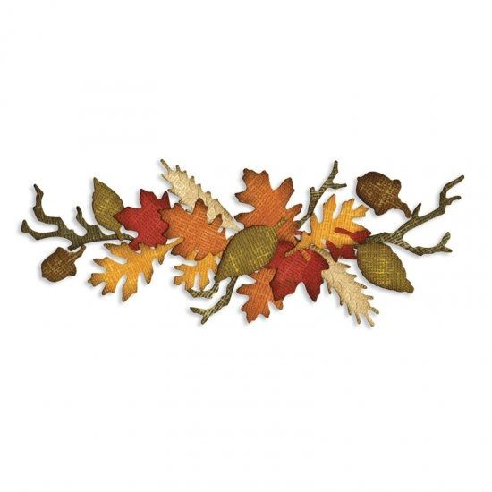 Tim Holtz Alterations Sizzix Autumn Gatherings Decorative Strip Die